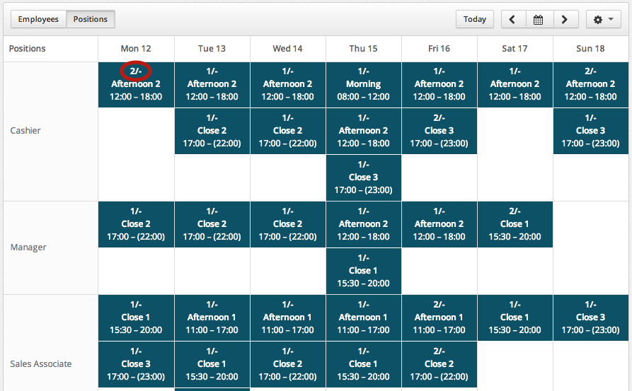 One Way Is To Drag A Shift From The Left Column Of Templates And Drop It Onto Spot On Schedule