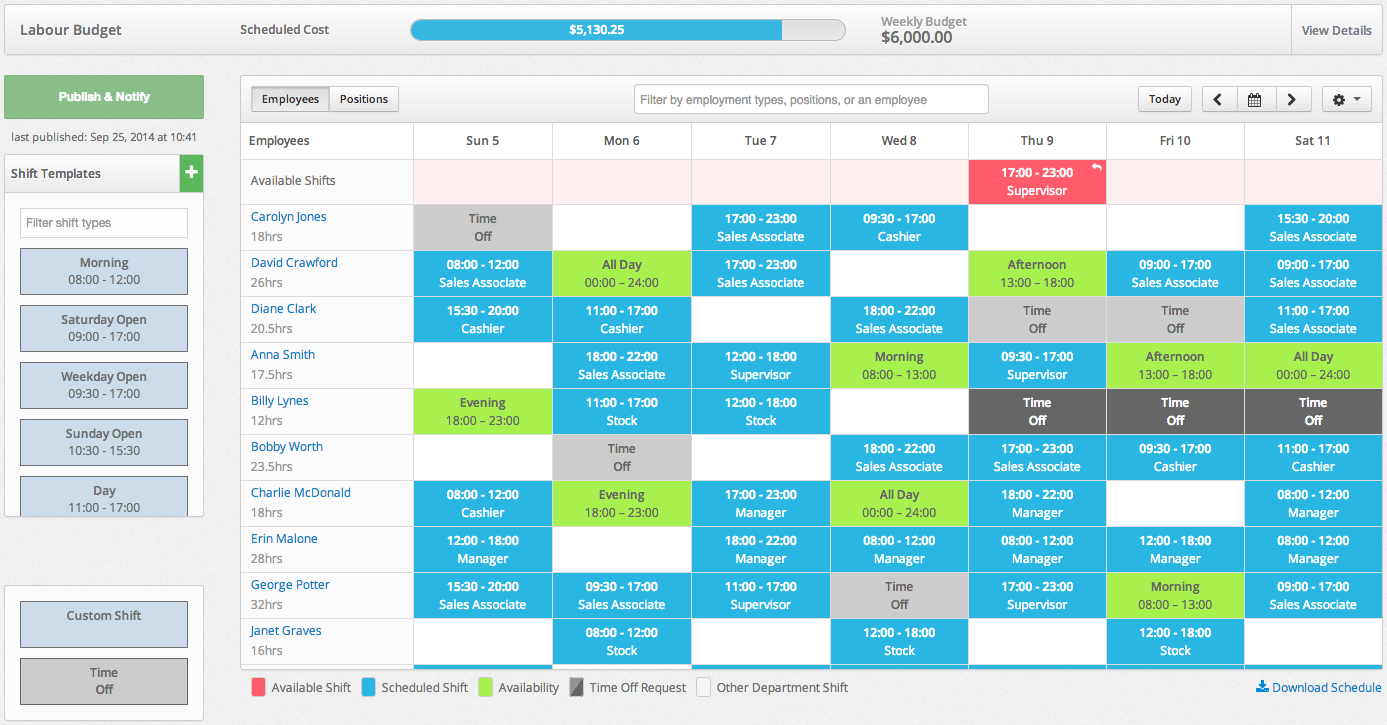 Overview of the Employee Department Calendar – MakeShift Support
